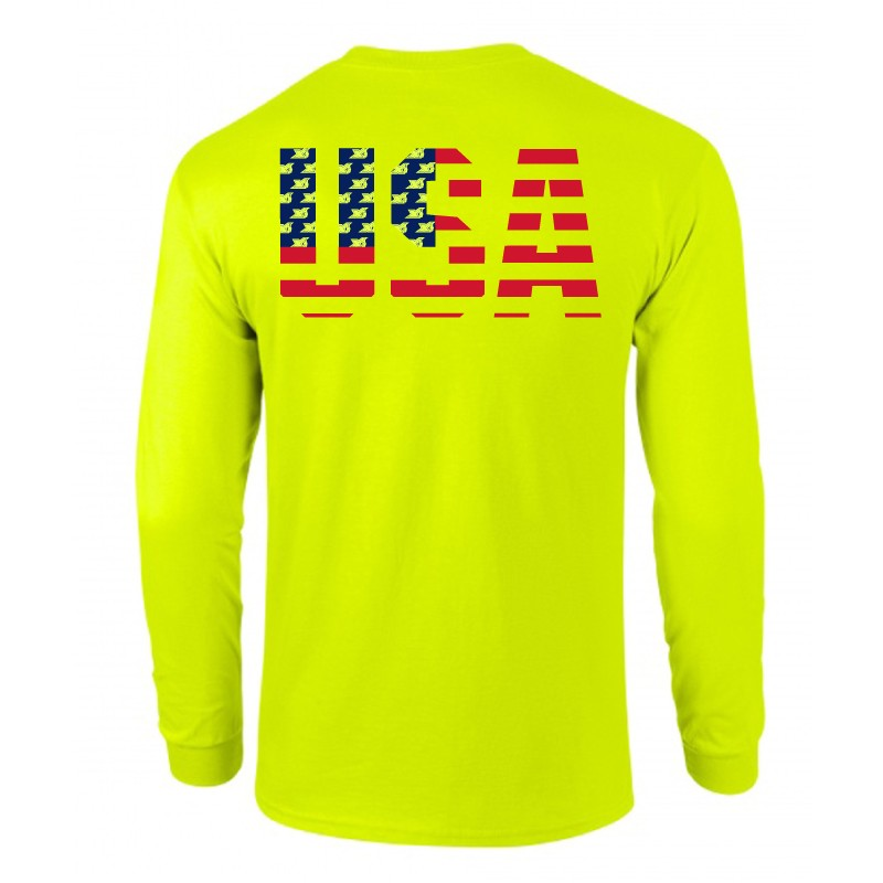 2400 USA safety green long sleeve