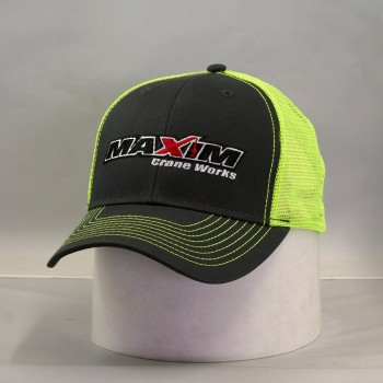 C112- Charcoal / Safetygreen Mesh back.  Full maxim