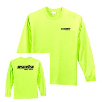 Long Sleeve Safety Green Tee