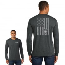 Perfect Weight Long Sleeve Tee w/ American Flag Hook