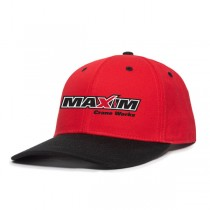 Black & Red Premium Twill Snap Back with Maxim