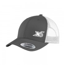 YP Graphite/ White Trucker with Snap Back - X Logo