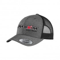 YP Heather Grey / Black Trucker with Snap Back