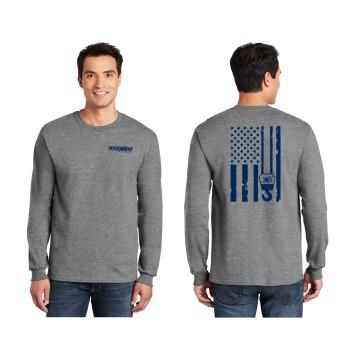 2400 Hthr Grey , American Flag Hook,