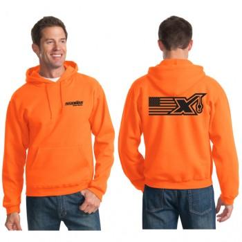 996M Safety Orange - Flag X logo