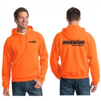 996 Jerzee Safety Orange Maxim Hoodie