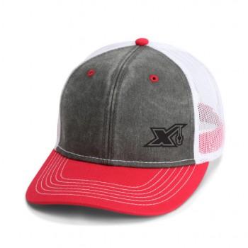 803 Black/Red Visor/White X logo